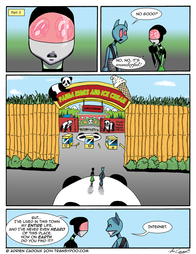 Panda Rides and Ice Cream (part 1)